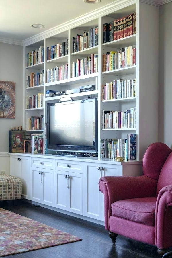 Built In Bookcases Kits Inside 2017 Floor To Ceiling Bookcase Floor Ceiling Bookcase – Ellenberkovitch (View 13 of 15)