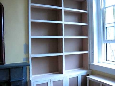 Built In Bookcases & Radiator Cover – Youtube Pertaining To Fashionable Radiator Cover And Bookcases (View 1 of 15)