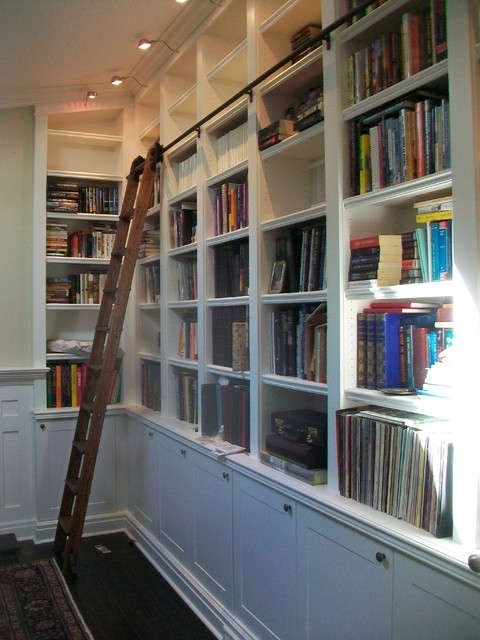 Built In Bookcases With Rolling Library Ladder Intended For Most Recently Released Bookcases With Ladder (View 5 of 15)