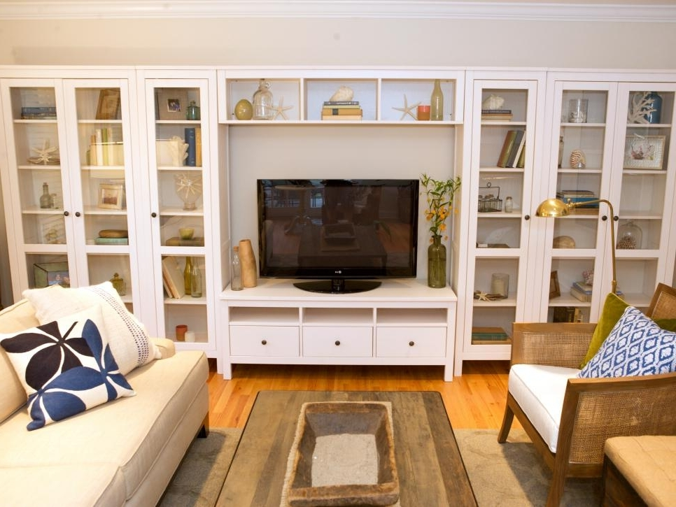 Built In Bookcases With Tv Intended For Recent Wall Units: Stunning Built In Tv Bookcase Bookcases With Tv, Tv (View 7 of 15)