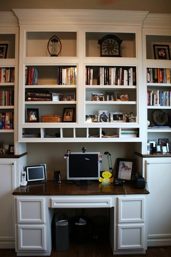 Built In Bookshelves With Built In Desk That Protrudes Out A Bit Within Current Made Bookcases (View 15 of 15)
