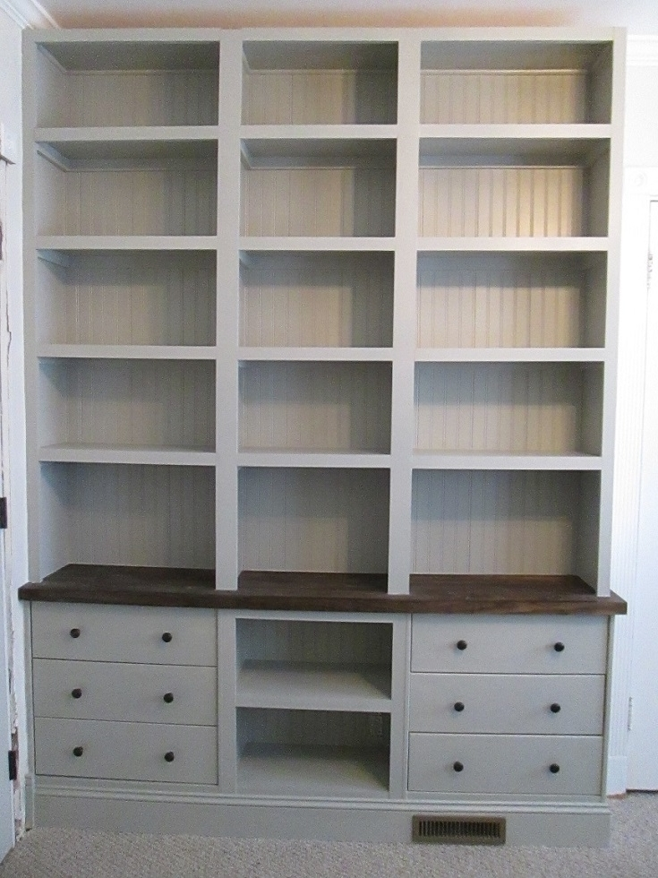 Built In Bookshelves With Rast Drawer Base – Ikea Hackers Pertaining To Widely Used Bookshelves With Cabinet Base (View 11 of 15)