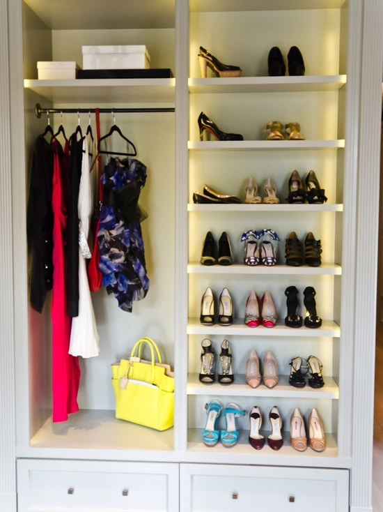Built In Cupboard Shelving Inside Famous Built In Shoe Shelves Design Ideas (View 2 of 15)