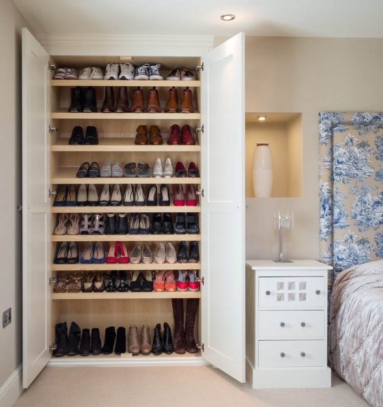 Built In Cupboard Shelving With Regard To 2018 45 Creative Ideas To Store Your Shoes – Shelterness (View 5 of 15)