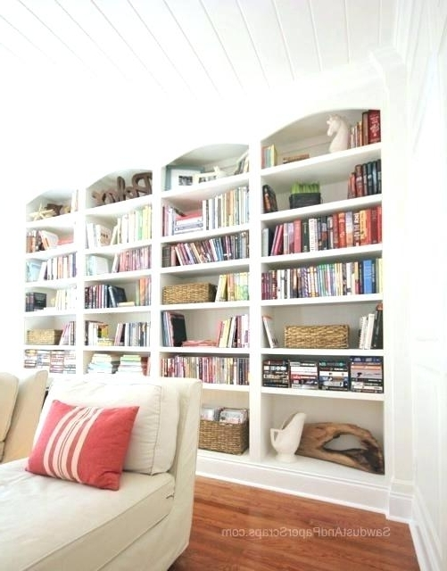 Built In Library Shelves With Widely Used Custom Built In Bookcases Cost For Built In Bookcase Sawdust Girl (View 2 of 15)