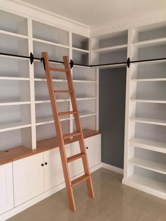 Built In Wa – Library Ladders With Most Up To Date Library Ladder (View 2 of 15)