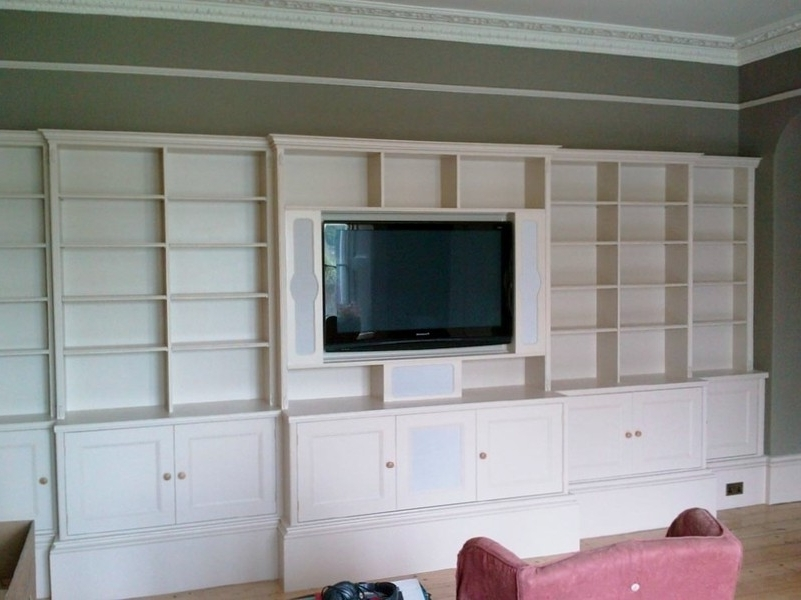 Built In Wall Shelving Units Custom Made Built In Tv Wall Units In Well Known Custom Made Shelving Units (View 1 of 15)