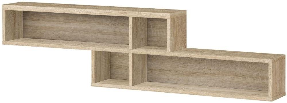 Buy Gami Palace Sonoma Oak Wall Shelf Online – Cfs Uk With 2018 Oak Wall Shelves (View 6 of 15)
