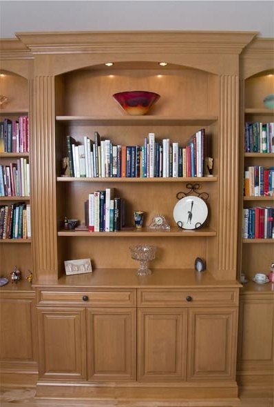 Cabinet Bookcases Inside Preferred Custom Built In Bookcases In Alder In Clarksville, Maryland (View 4 of 15)