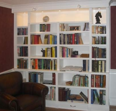 Cheap, Even, Energy Efficient Lighting For Bookshelves And Under Inside Most Up To Date Library Bookcases Lighting (View 12 of 15)