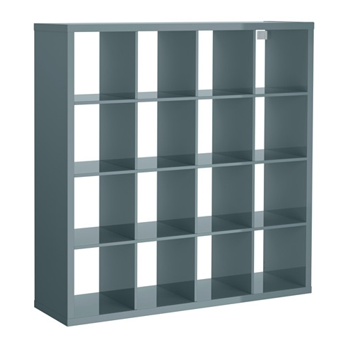 Cheap Shelving Units Pertaining To 2018 Kallax Shelving Unit High Gloss Grey Turquoise 147X147 Cm – Ikea (View 5 of 15)