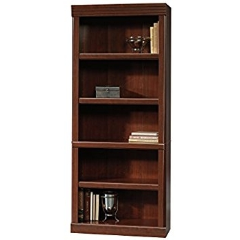 Cherry Bookcases Intended For Most Popular Amazon: Sauder Heritage Hill Open Bookcase, Classic Cherry (View 4 of 15)