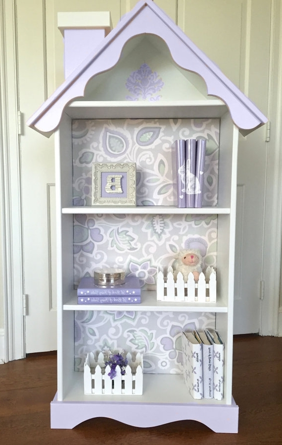 Children's Doll House Bookcase, Custom Children's Dollhouse Pertaining To Preferred Dollhouse Bookcases (View 5 of 15)