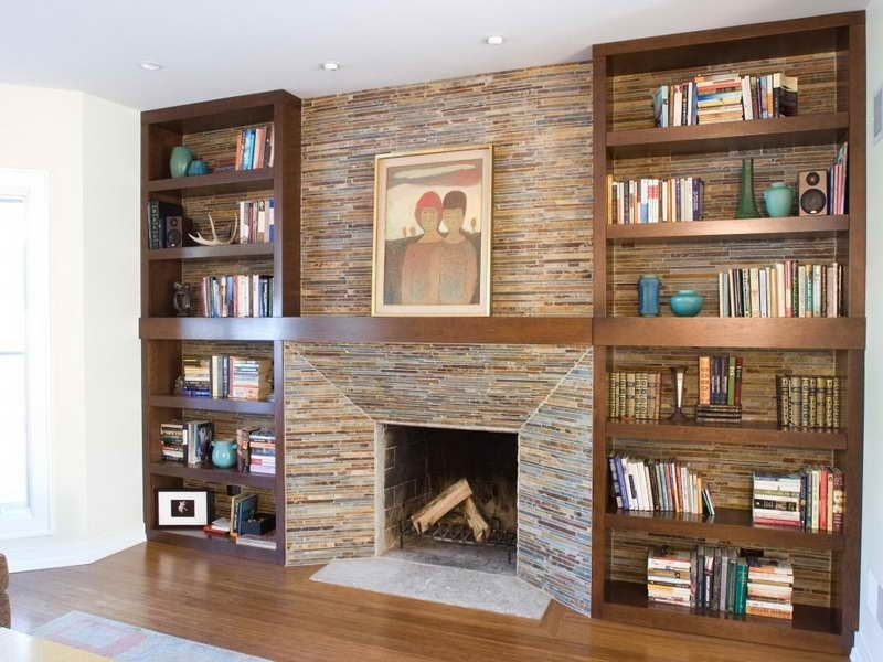 Classic Bookshelves Design Within Best And Newest Cabinet & Shelving:how To Build In Bookshelves With Fireplace In (View 6 of 15)