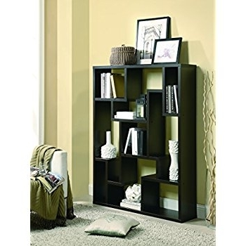 Coaster Bookcases Inside Most Recently Released Amazon: Coaster Furniture 9 Shelf Modular Asymmetrical (View 10 of 15)