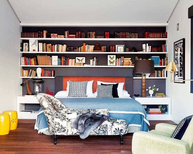 Codo A Codo Arquitectura Madrid Remodel Bedroom Bookshelves Toile Intended For Widely Used Bookcases Bed (View 8 of 15)