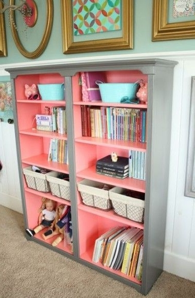 Colored Bookcases Regarding Most Up To Date Amusing Bookshelf Colors Contemporary – Best Inspiration Home (View 7 of 15)