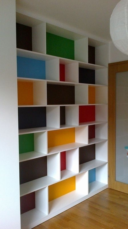 Colored Bookcases Within Most Popular Bookshelf (View 8 of 15)