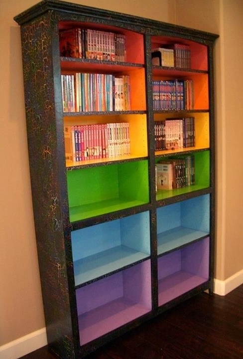 Colored Bookcases Within Widely Used Coloured Bookcases For Kids – Home Decor (View 9 of 15)