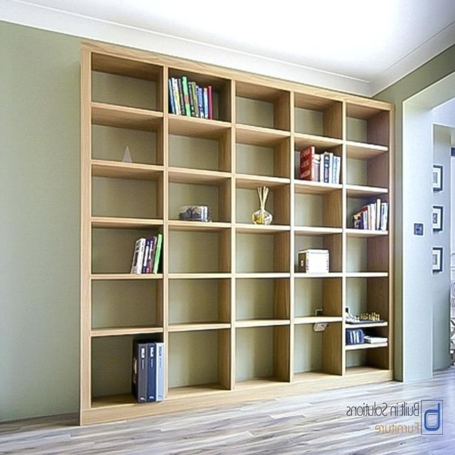 Contemporary Oak Bookcase Modern Built In Bookshelves In Oak Intended For Recent Contemporary Oak Bookcases (View 7 of 15)