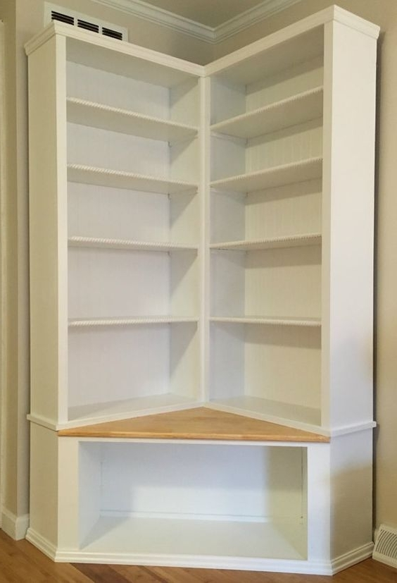 Corner Bookcases Intended For Widely Used Best 25+ Corner Bookshelves Ideas On Pinterest (View 6 of 15)