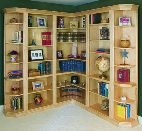 Corner Bookcases With Current Woodcraft Custom Traditional Corner Bookcases – Woodcraft Industries (View 7 of 15)