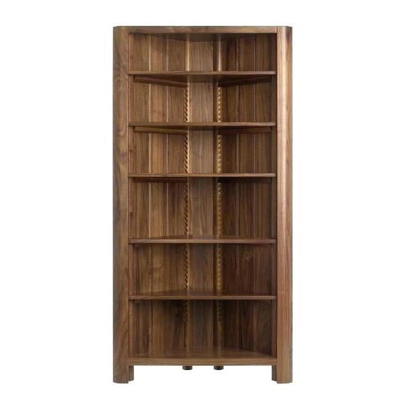 Corner Oak Bookcases Inside 2017 Corner Oak Bookcase Bookcases Dark Wood Series Corner Unit (View 4 of 15)