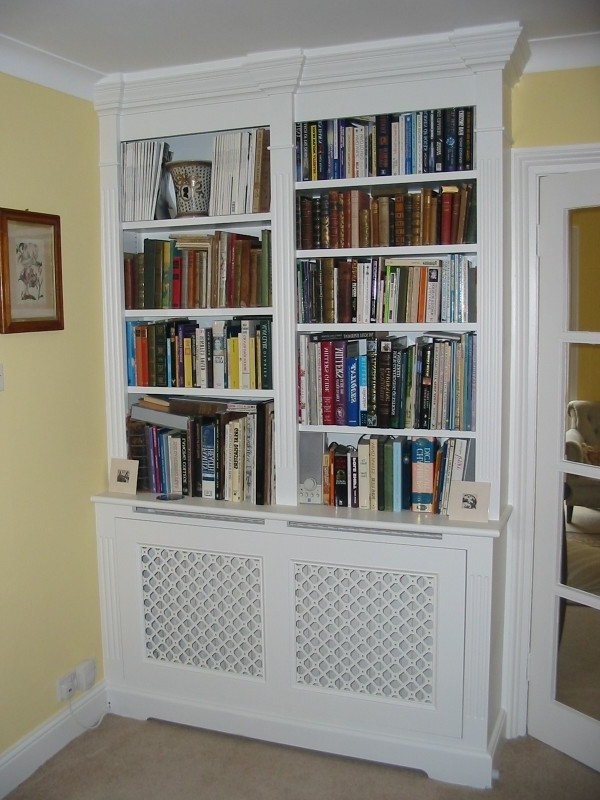 Cupboard Bookcase, Radiator Bookcase Cover Over Radiator Cover With Regard To Well Liked Radiator Cover Bookshelves (View 1 of 15)