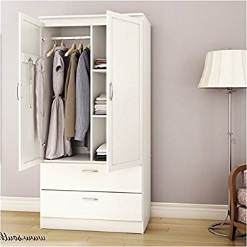 Current Amazon: Pemberly Row Wardrobe Armoire In Pure White: Kitchen Within White Wardrobes Armoire (View 5 of 15)