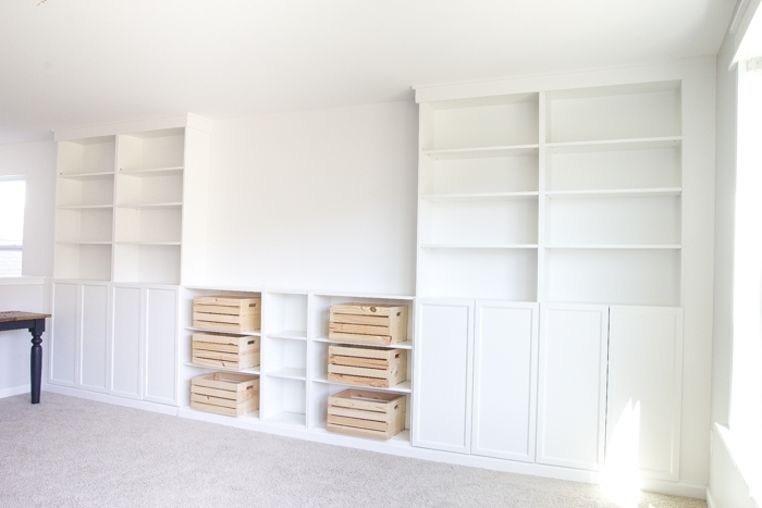 Current Build Built In Bookcases In Diy Built Ins From Ikea Bookcases + Orc Week 2 – Bless'er House (View 12 of 15)
