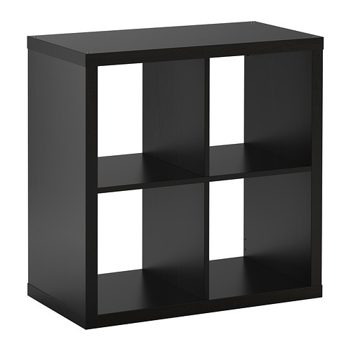 Current Ikea Cube Bookcases Regarding Kallax Shelf Unit – Black Brown – Ikea (View 8 of 15)