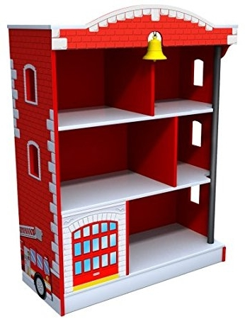 Current Kidkraft Bookcases Intended For Amazon: Kidkraft Firehouse Bookcase: Toys & Games (View 3 of 15)