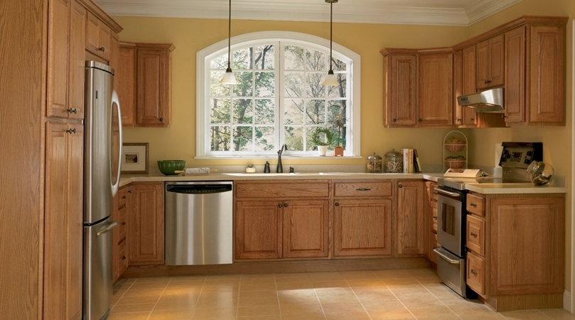 Current Kitchen Image – Kitchen & Bathroom Design Center Intended For Oak Cupboards (View 3 of 15)