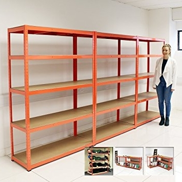 Current Set 3 Heavy Duty 5 Tier Shelf Shelving Units (View 4 of 15)