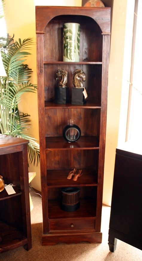Current Teak Bookcase, Tall Narrow (View 3 of 15)