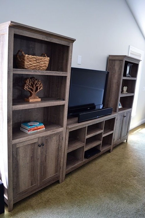 Current Threshold Carson 5 Shelf Bookcases Regarding Farmhouse Style, Rustic Bookcase (View 3 of 15)