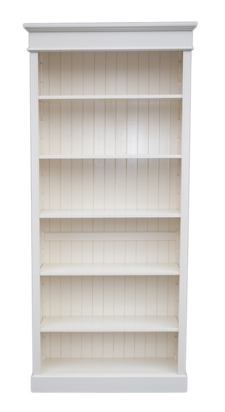 Current White Painted Bookcases Within Solid Wood Interiors > Pine Bookcase Large 5 Adjustable Shelves (View 5 of 15)