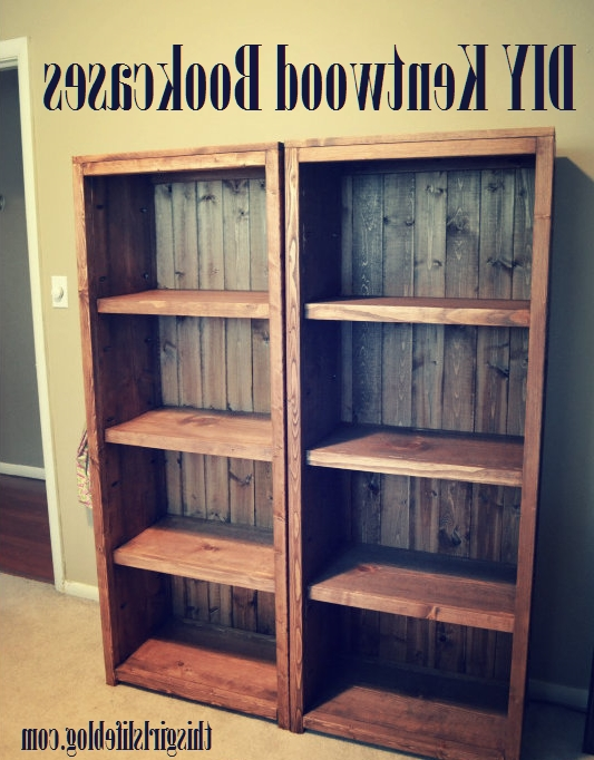 Current Woodworking Diy: Kentwood Bookcases – This Girl's Life Blog (View 3 of 15)