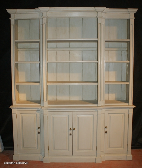 Custom Built Break Front Bookcase – Antique Bookcases Intended For Widely Used Breakfront Bookcases (View 6 of 15)