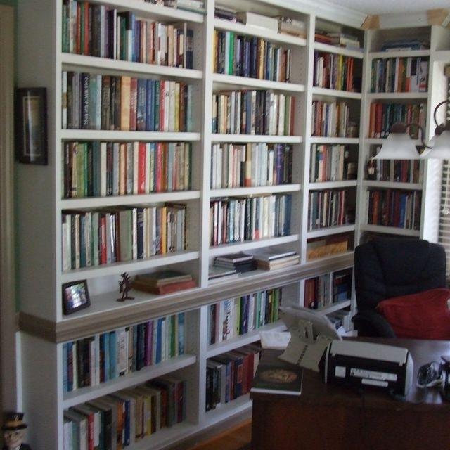 Custom Built In Study Bookshelvescarolina Woodworking For Trendy Study Bookshelves (View 8 of 15)