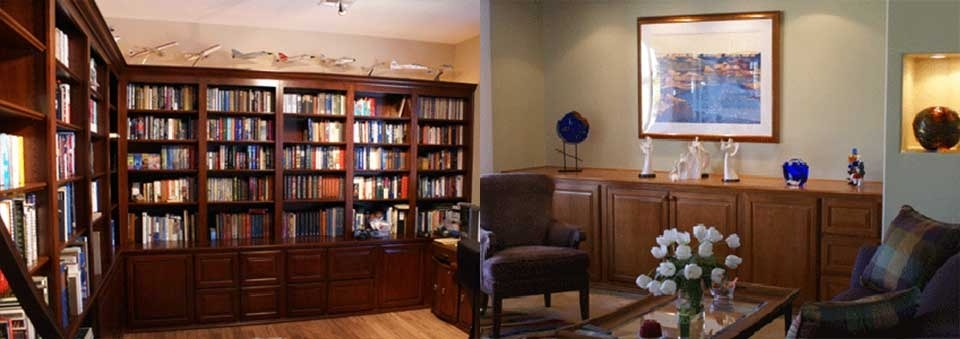 Custom Built Library Shelves, Offices And Desks In Las Vegas With Regard To Well Known Built In Library Shelves (View 4 of 15)