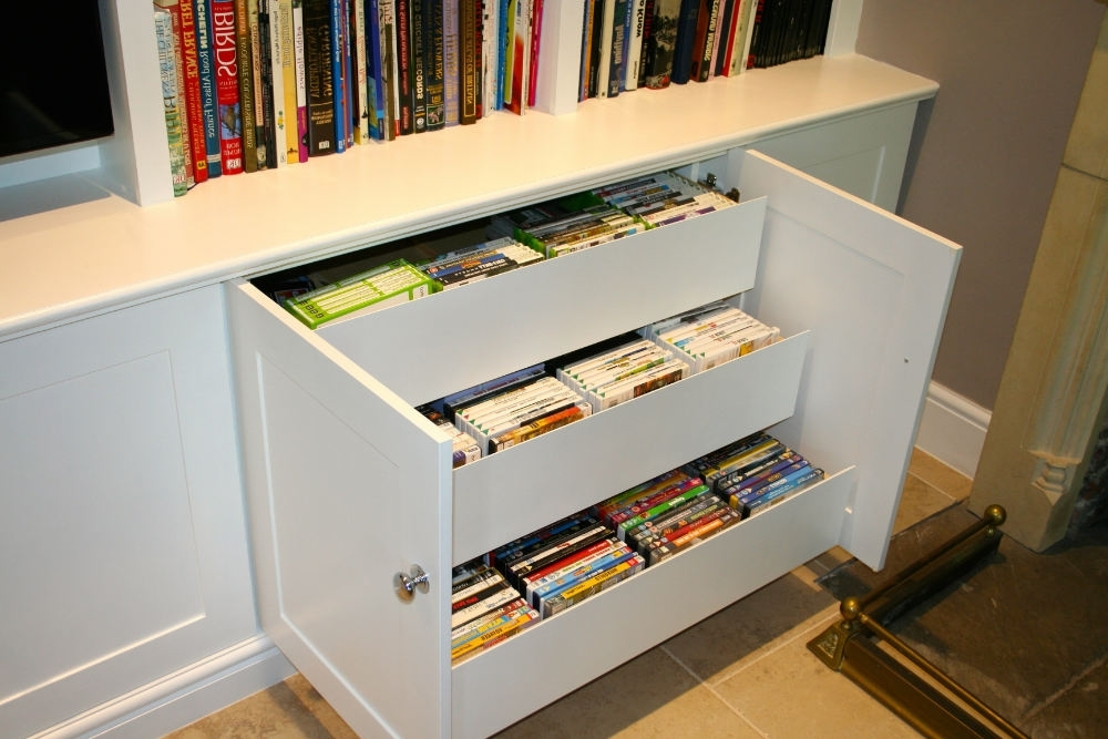 Custom Dvd Drawers For Bookcase Unit – The Bookcase Co Throughout Most Popular Dvd Bookcases (View 7 of 15)
