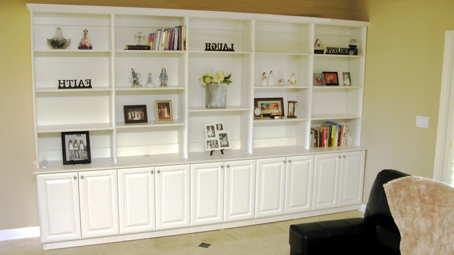 Custom Home Media Center Designs – Classy Closets Pertaining To Most Up To Date Traditional Bookshelves Designs (View 5 of 15)