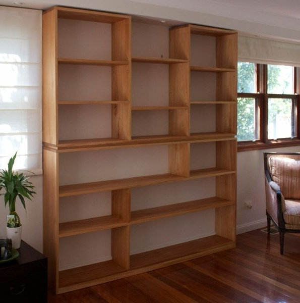 Custom Made Timber Bookshelves Sydney Nathaniel Grey Pertaining To Throughout Best And Newest Custom Made Bookshelves (View 1 of 15)