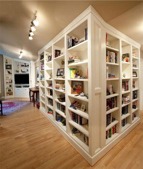 Custom White Bookcases And Media Cabinet In Columbia, Maryland Throughout Most Recent Custom Bookcases (View 9 of 15)