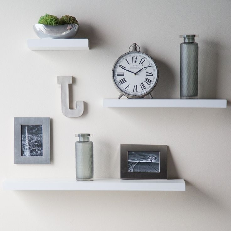 Decorating With 3 Floating Shelves – Morespoons #961128A18D65 With Most Recent White Wall Shelves (View 4 of 15)