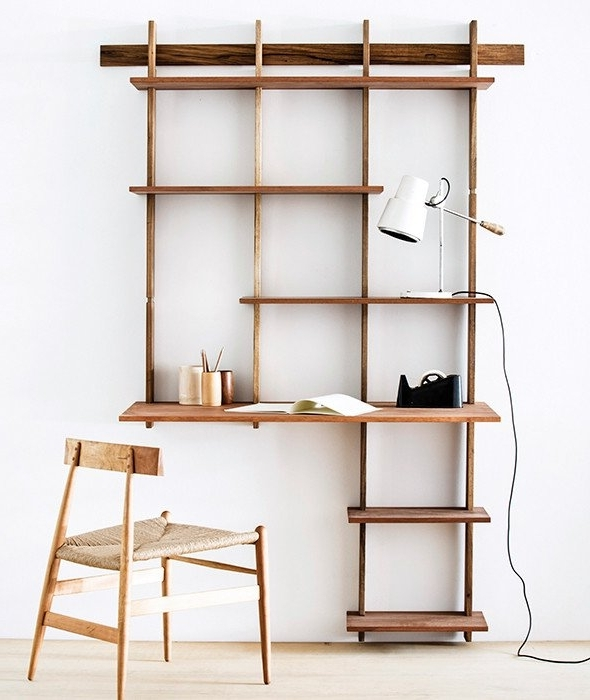 Desk Bookcases With Most Current Sticotti Bookshelf + Desk Kit G (View 2 of 15)