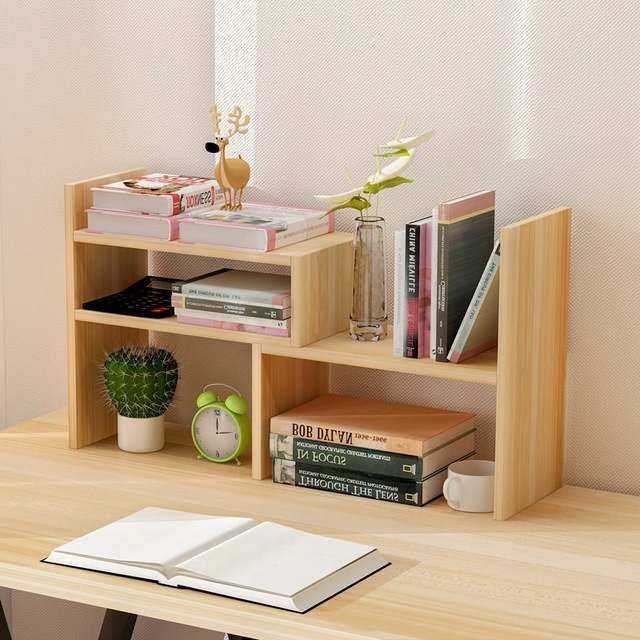 Desk Bookcases With Widely Used Creative Computer Desk Bookshelf Simple Shelf Small Office Storage (Gallery 14 of 15)