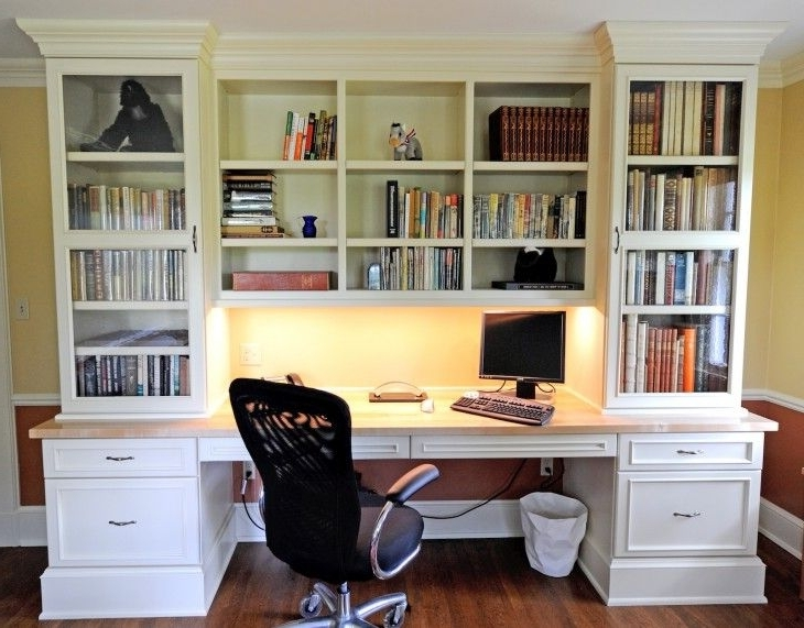 Desk With Bookcases Intended For Popular 121 Best Bookcases And Built In Desks Images On Pinterest (View 4 of 15)