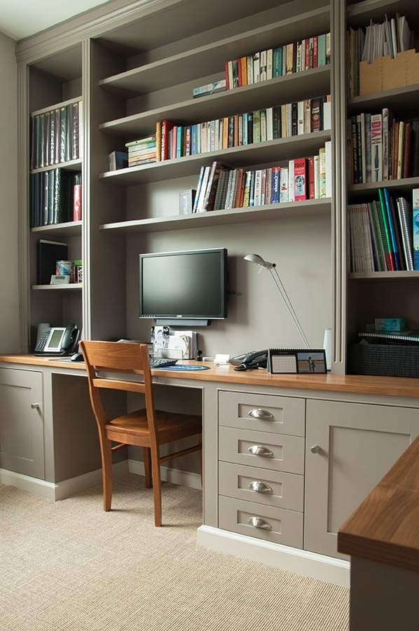 Desks, Drawers And Shelves With Bespoke Libraries (View 8 of 15)